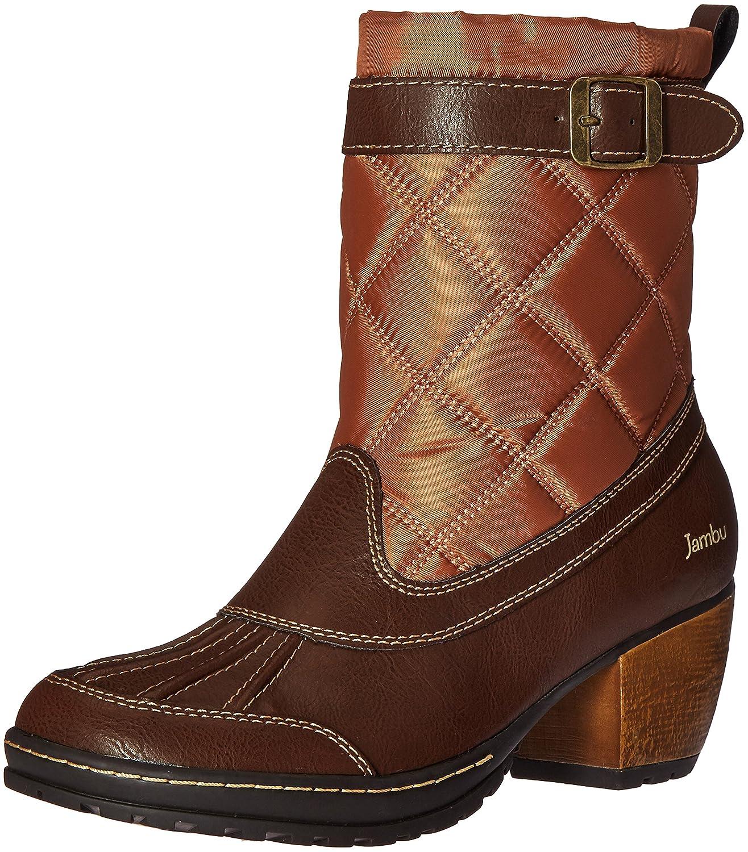 Jambu Women's Dover-Vegan Rain Boot B005A9TEX0 6.5 B(M) US Dark Brown/Tan