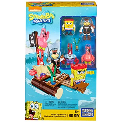 Mega Bloks Spongebob Squarepants Pirate Figure Pack Building Playset: Toys & Games