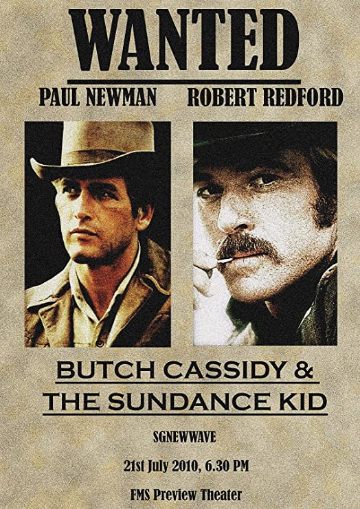 BUTCH CASSIDY AND THE SUNDANCE KID Movie Poster RARE