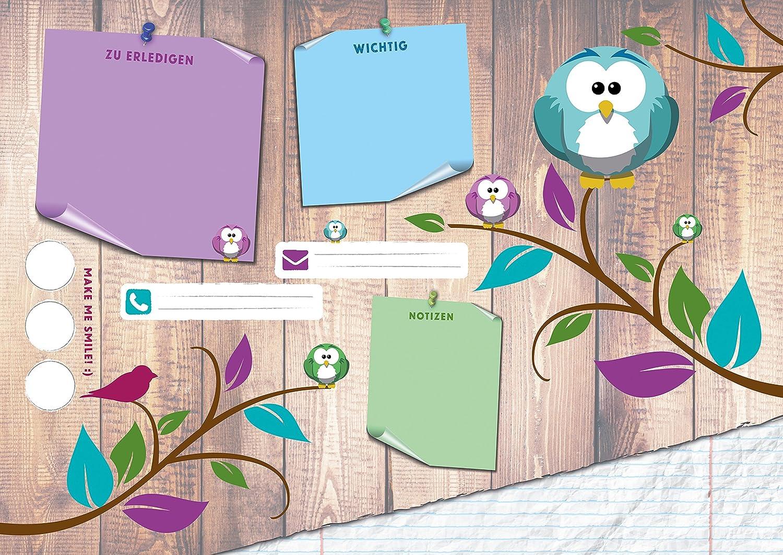 Protector de escritorio DIN A3, color búhos DIN A3: Amazon.es: Oficina y papelería