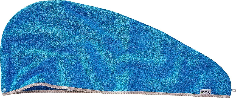 Femme 100/% Coton Sowel/® Serviette pour Les Cheveux Turban Serviette avec Bouton
