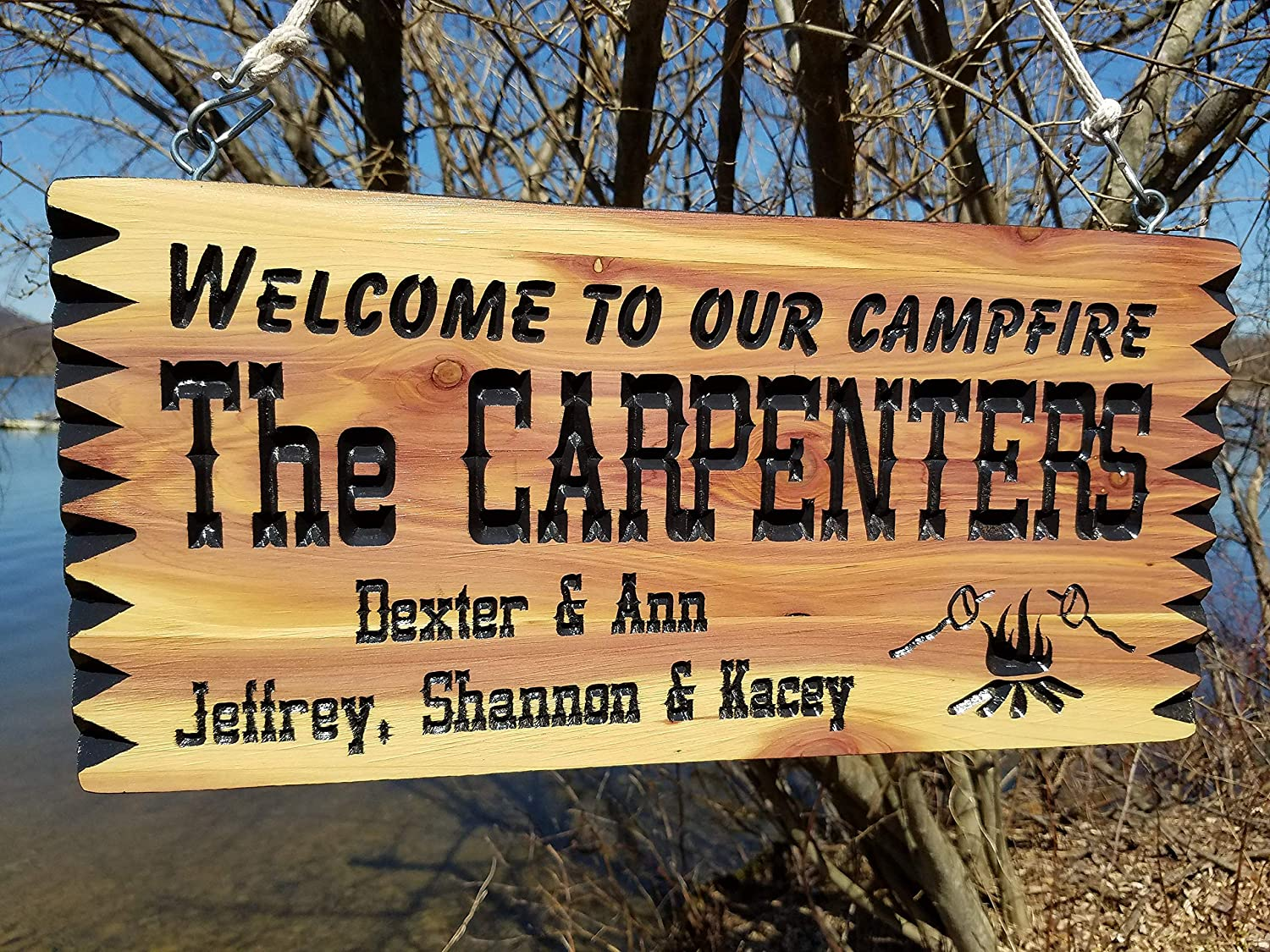 Mildred Rob Personalized Camping Signs Rv Signs Campfire Image Campsite Sign Custom Rv Sign Wooden Camper Signs Camper Sign 19 X 9
