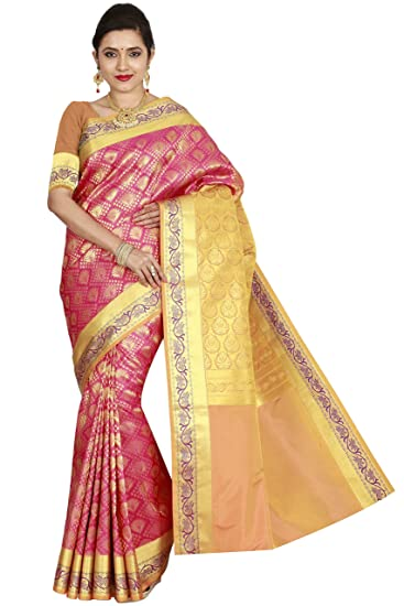 65727d0d27 arars Women's Kanchipuram Silk Saree Bridal Collections (212 MB PINK):  Amazon.in: Clothing & Accessories