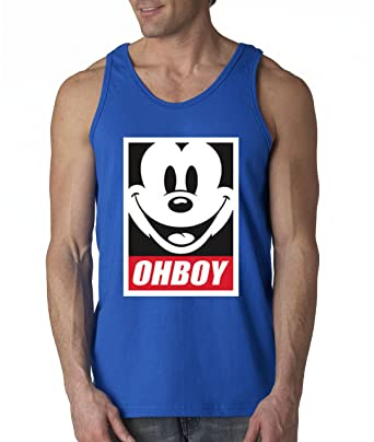 f76f95019dff0e New Way 416 - Men s Tank-Top Oh Boy Mickey Mouse Face Anonymous Dope Small