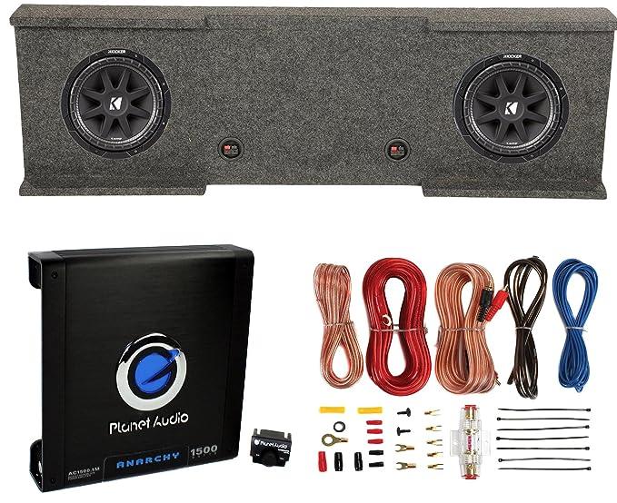 Amazon.com: Kicker 12-Inch 600W Subwoofers (2) + GMC Dual Sub Box + ...