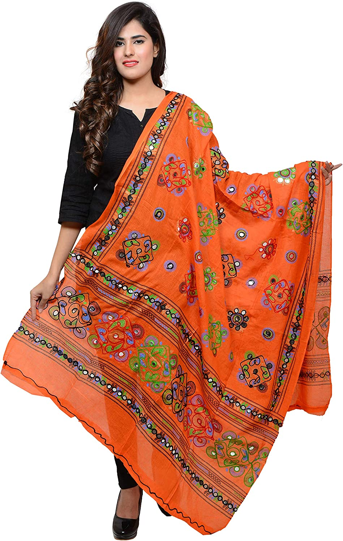 Banjara Women's Cotton Stoles & Dupattas Kutchi Chakachak