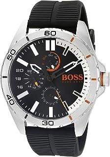 HUGO BOSS Orange Mens 1513290 berlin Analog Display Japanese Quartz Black Watch