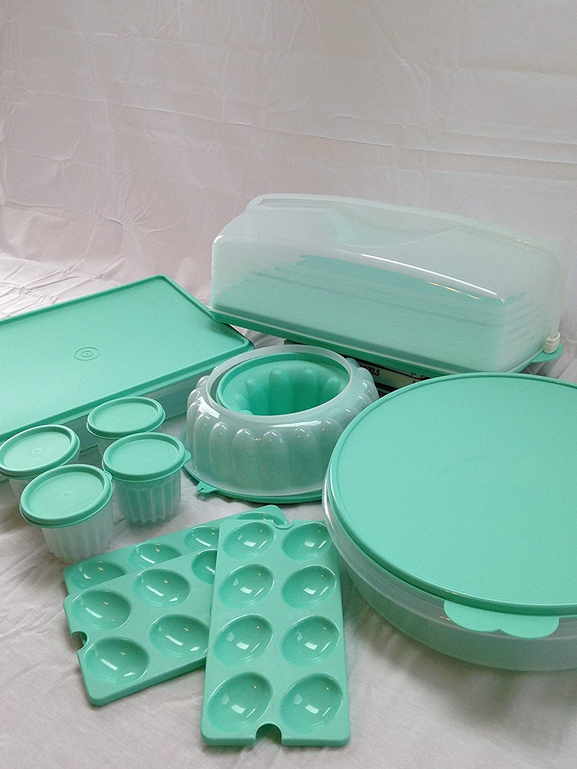 Classic Cake y Cookie Takers y jel-ring Mold Makers Juego de Tupperware 9 piezas: Amazon.es: Hogar