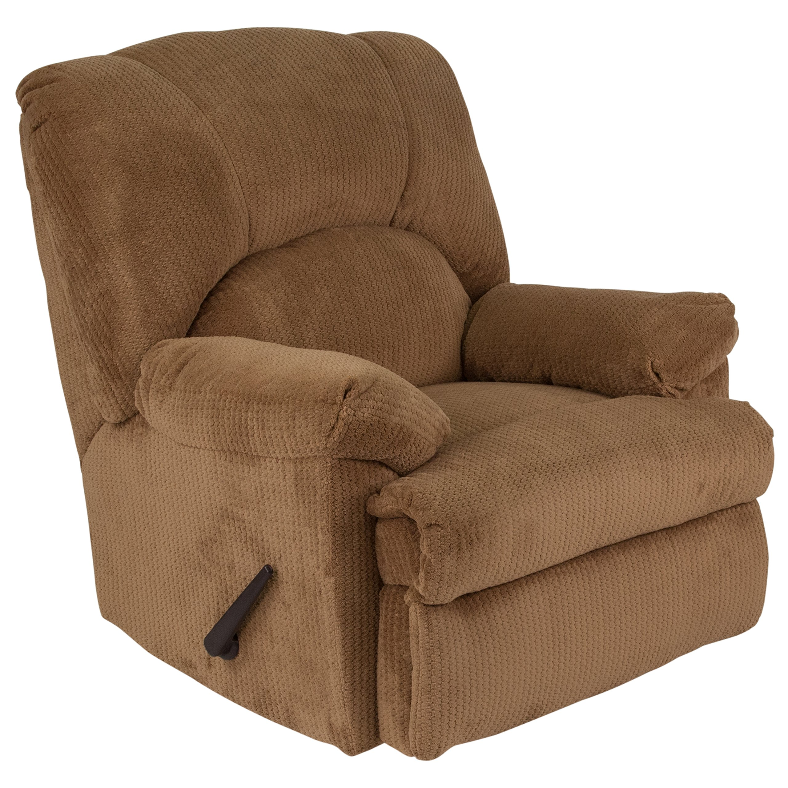 Flash Furniture Contemporary Feel Good Camel Microfiber Rocker Recliner by Flash Furniture