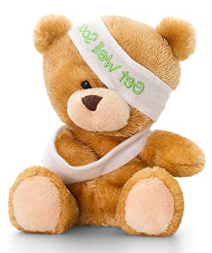 Peluche Ours, Pipp The Bear Bon rétablissement Teddy, peluche ours env. 14 cm