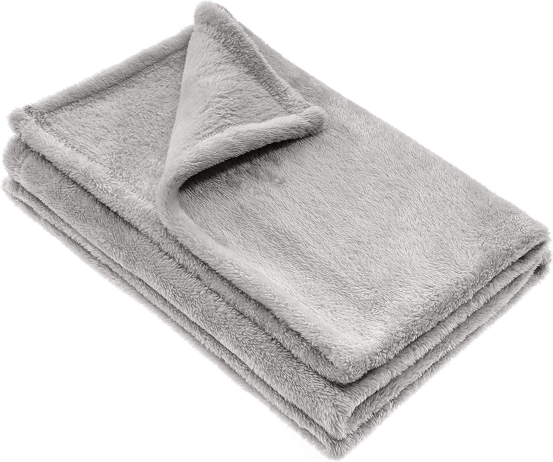 Jacky Manta para bebé / Arrullo / Mantita minicuna - cochecito / Manta polar / Unisex / 100x75 cm / Microfibra / Certificado Oeko -Tex, antialérgico - Gris