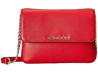 72cf1110bbcd60 Michael Kors Bedford Double Gusset Crossbody CHILI/GOLD: Handbags ...