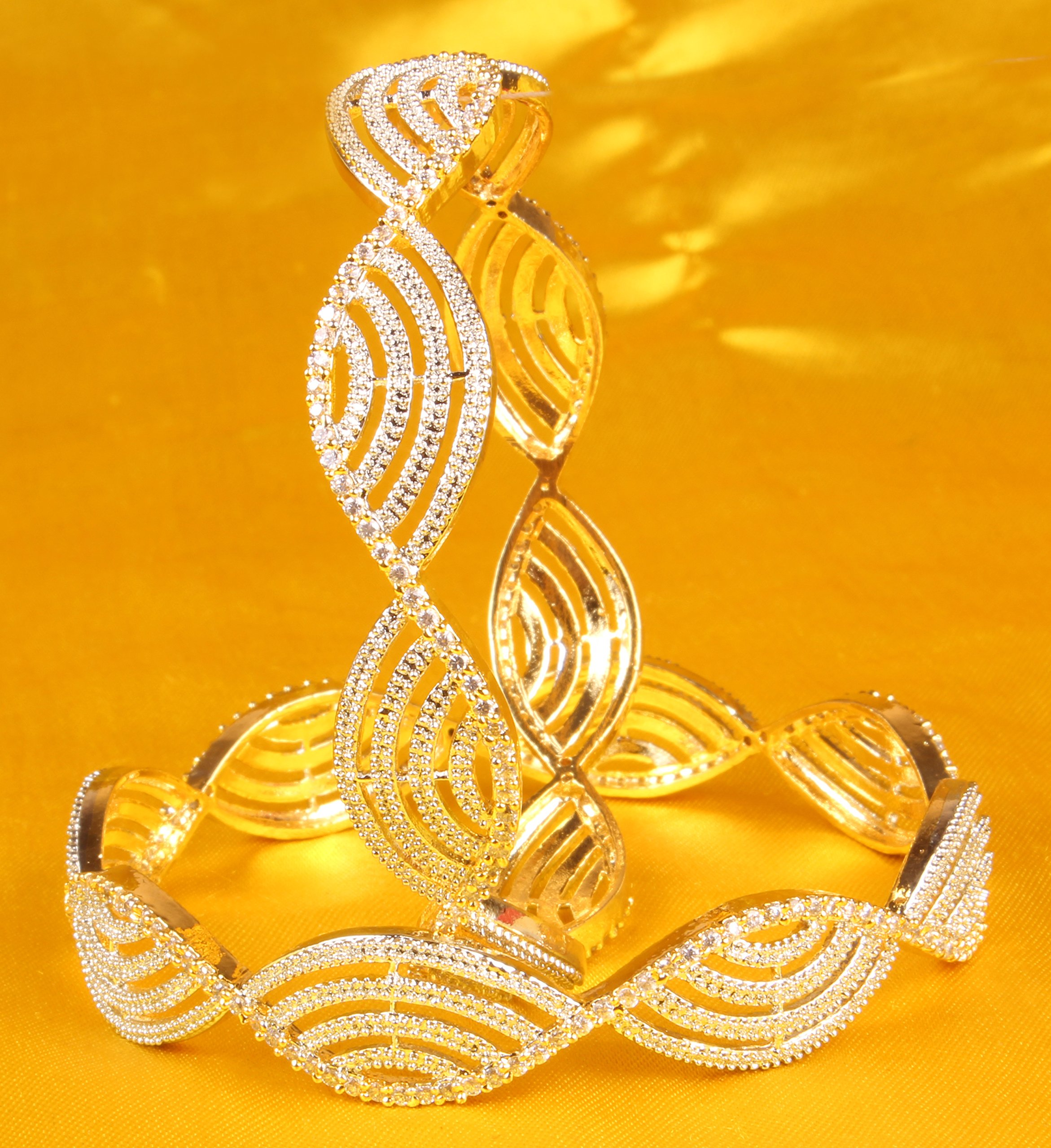 Ethnic Traditional Bollywood Style Gold Tone Indian Bangle Jewelry by Shiv_Collection (Image #2)