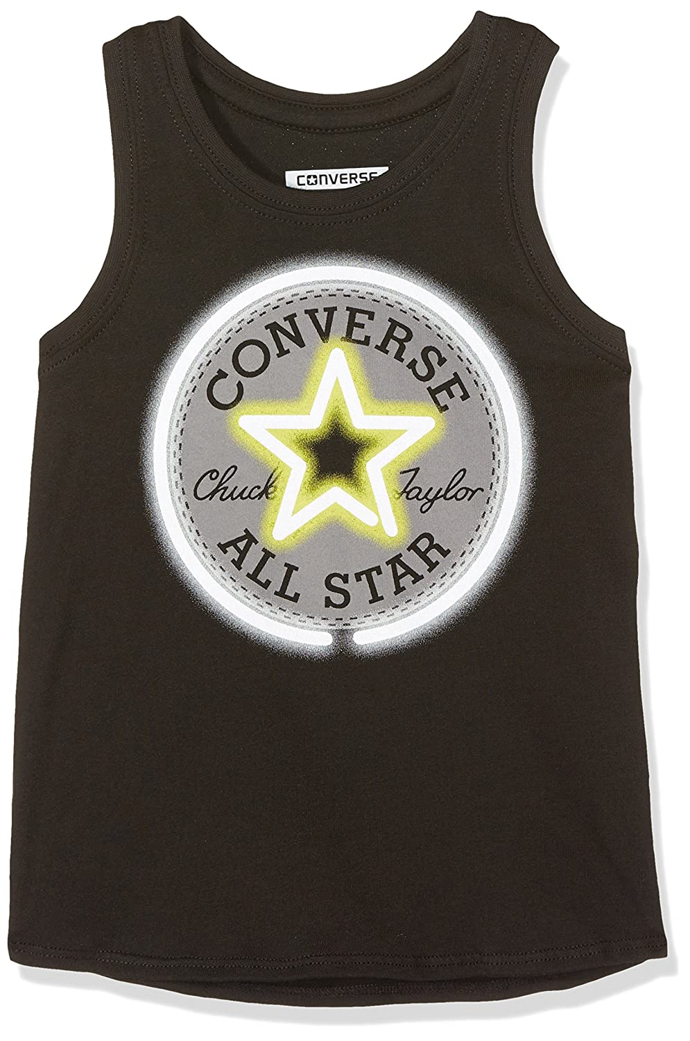 Converse Girl's Neon Chuck Patch Tank Black Tracksuit