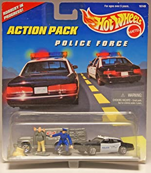 Hot Wheels Action Pack Police Force Robbery in Progress by Hot ...