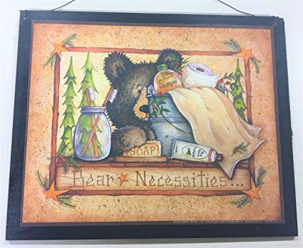 Amazon Com Bear Necessities Outhouse Bathroom Decor Sign Country