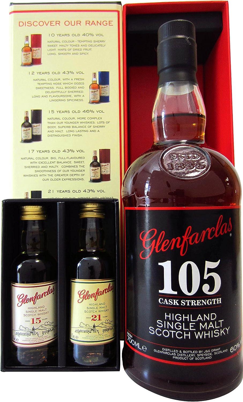 Glenfarclas - 105 Cask Stength Tasting Pack - Whisky: Amazon.es ...