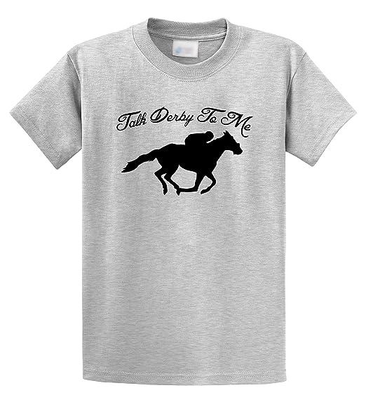 e5871c309 Comical Shirt Men's Talk Derby Me Funny Horse Race, Kentucky Derby Shirt  Ash Grey S