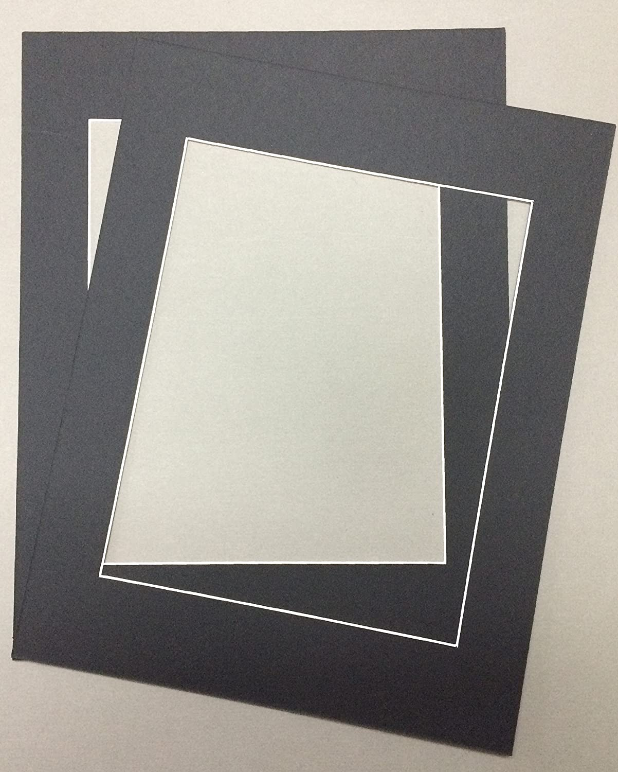 Pack of 2 24x36 Black Picture Mats with White Core, for 20x30 Pictures Bux1 Picture Matting