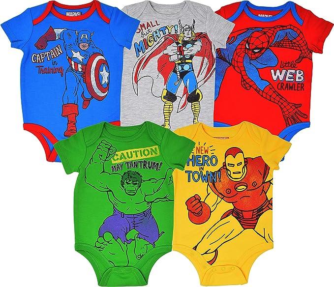 Marvel Avengers Baby Boys Bodysuit /& Pants Clothing Set