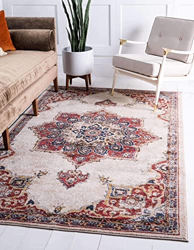 Unique Loom Utopia Collection Traditional Medallion Vintage Warm Tones Cream Area Rug 9 0 x 12 0