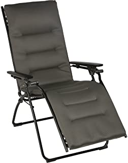 lafuma evolution air comfort zero gravity chair black steel frame taupe - Zero Gravity Chair