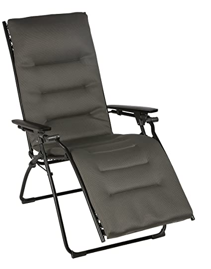 Attraktiv Lafuma Evolution Air Comfort Zero Gravity Chair, Black Steel Frame, Taupe