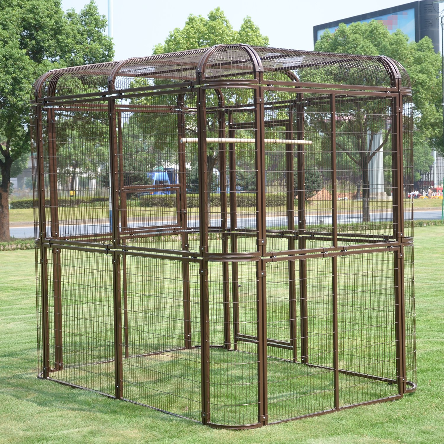 Walcut Heavy Duty Extra Large Bird Cage Walk In Aviary Pet House for Parrot Cockatiel Macaw