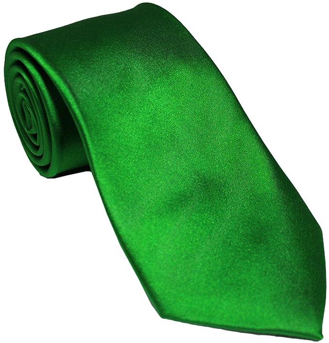 Corbata de seda verde esmeralda: Amazon.es: Ropa y accesorios