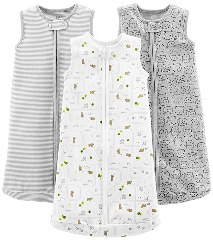 Simple Joys by Carter's Baby 3-Pack Cotton Sleeveless Sleepbag