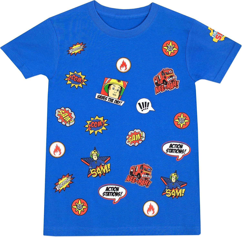 Sam el Bombero - Camiseta para niño - Fireman Sam - 7 - 8 Años ...