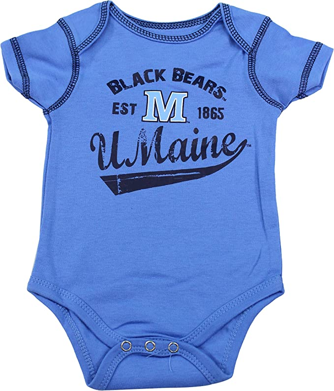 Outerstuff University of Maine Baby Clothing Black Bear 3 Piece Creeper Apparel Set
