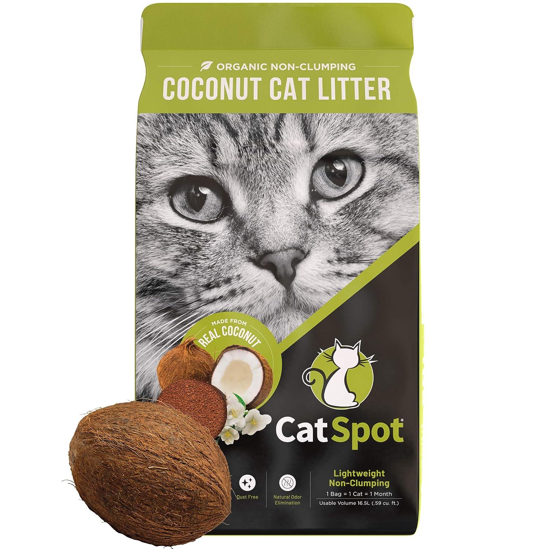 1 Bag CatSpot Litter, 100% Coconut Cat Litter  AllNatural, Lightweight & DustFree