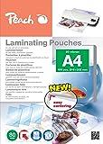 Peach PP580-02 100pièce(s) pochette plastique - pochettes plastiques (Transparent, Brillant, A4, 0,8 mm, 100 pièce(s))