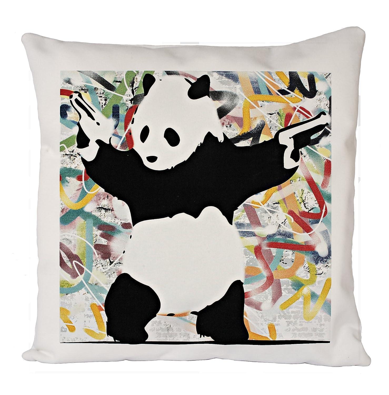 Uk print king Bansky Panda Gun, Funda de Almohada, Funda de ...