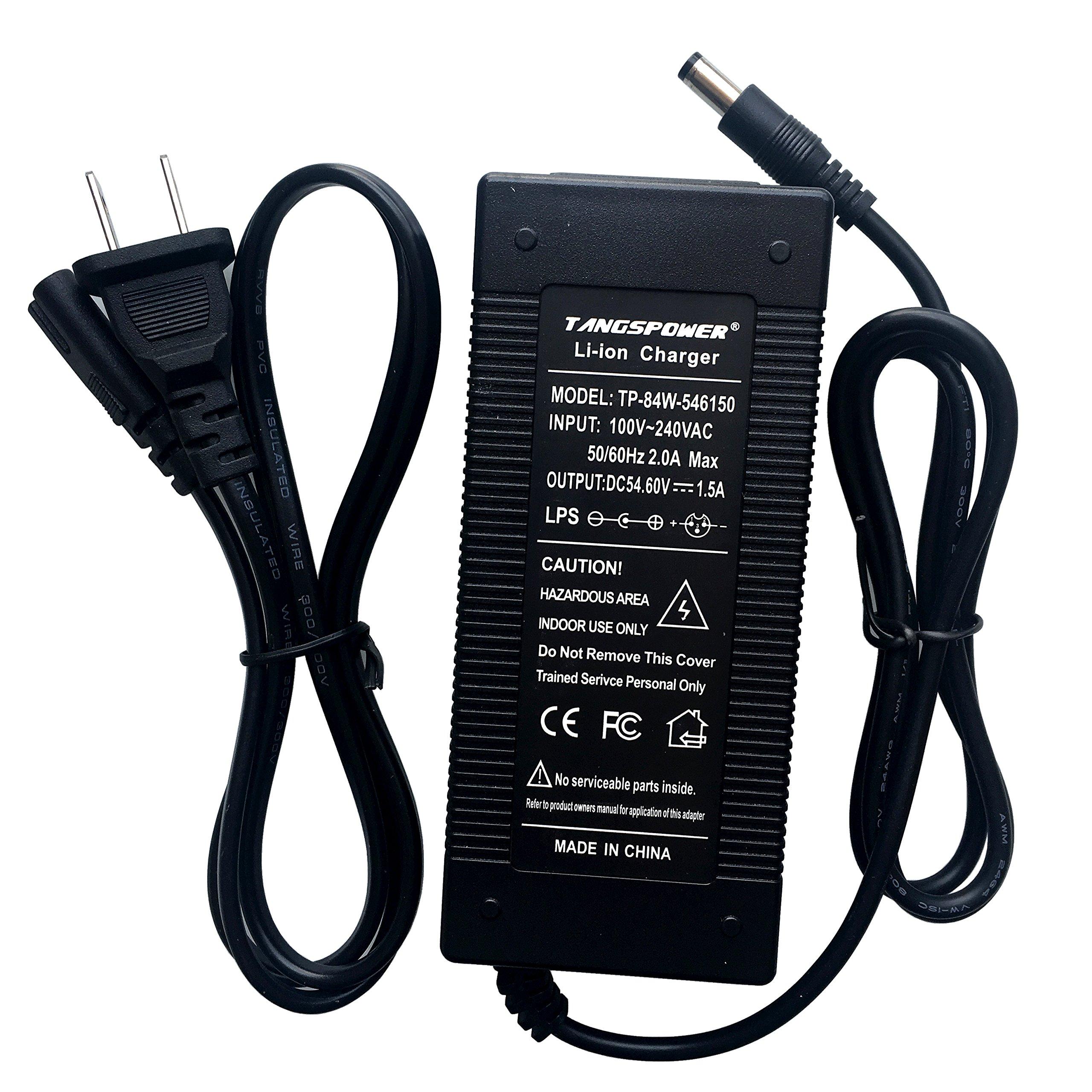 48V Battery Charger Output 54.6V1.5A for Ebike Electric Scooter Lithium Batteries Pack 54.6V 46.8v DC Plug