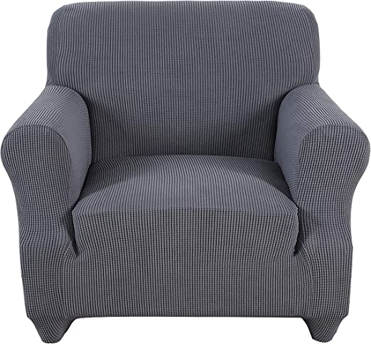 Chair Coverings Furniture Protector for Dogs Obstal Stretch Spandex Armchair Couch Slipcover Sofa Covers for Living Room and Kids Pets Cats One Piece Non Slip Chair Slipcover with Elastic Bottom