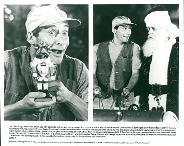 vintage photo of ernest saves christmas cast scene - Ernest Saves Christmas Cast
