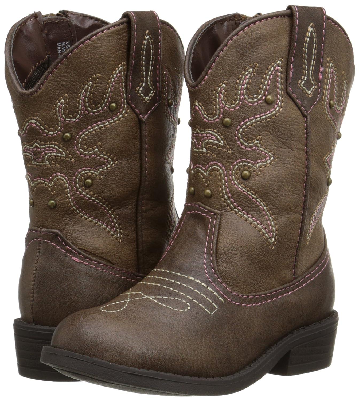 NINA Girls mirabela Fashion Boot Brown Distressed 5 Medium US Toddler