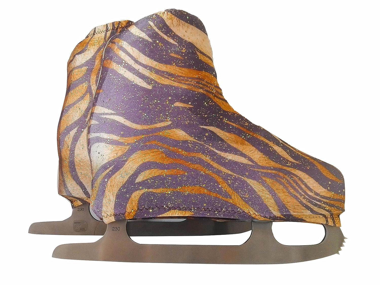Cache patins pour patinage artistique sur roulettes ou sur glace, imprimé Tigre