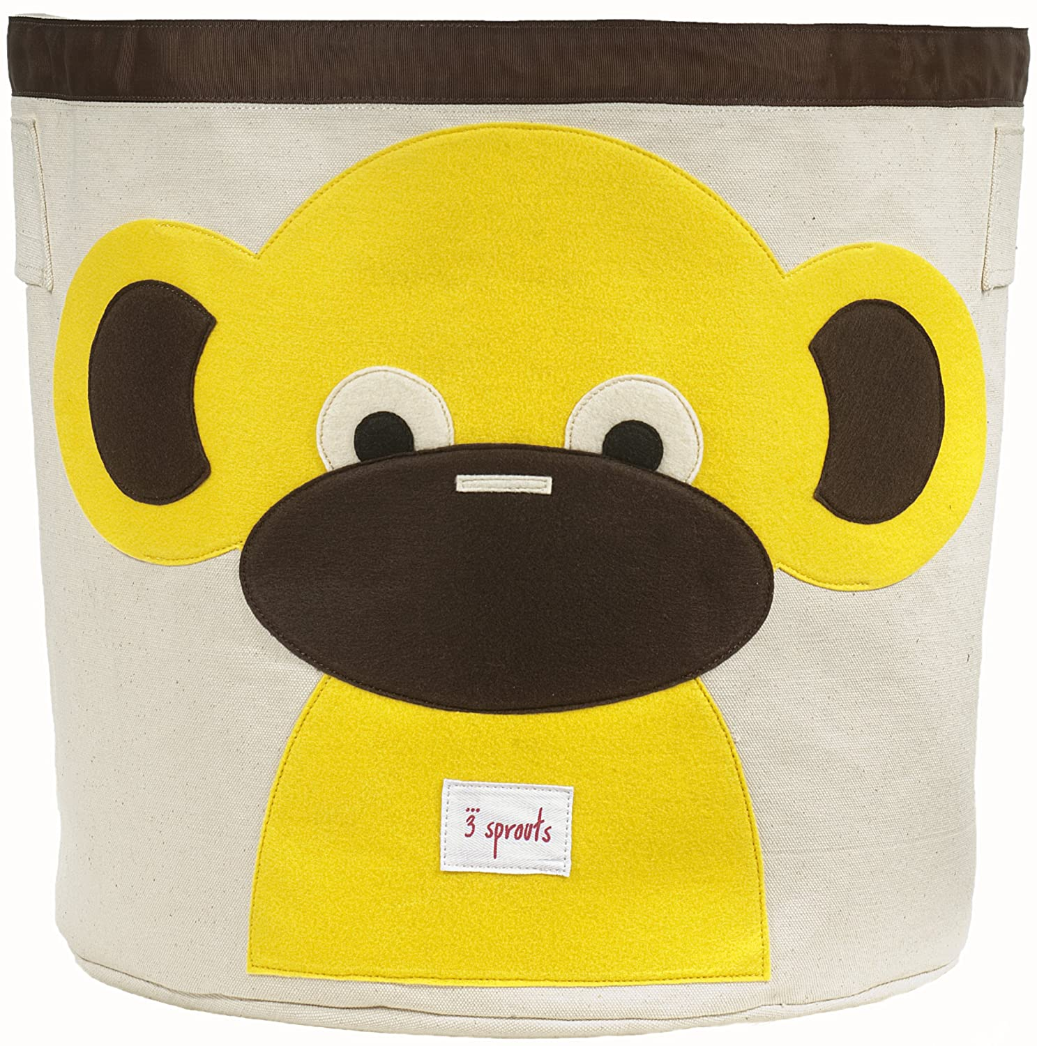 3 Sprouts Storage Bin, Yellow Monkey Lulujo