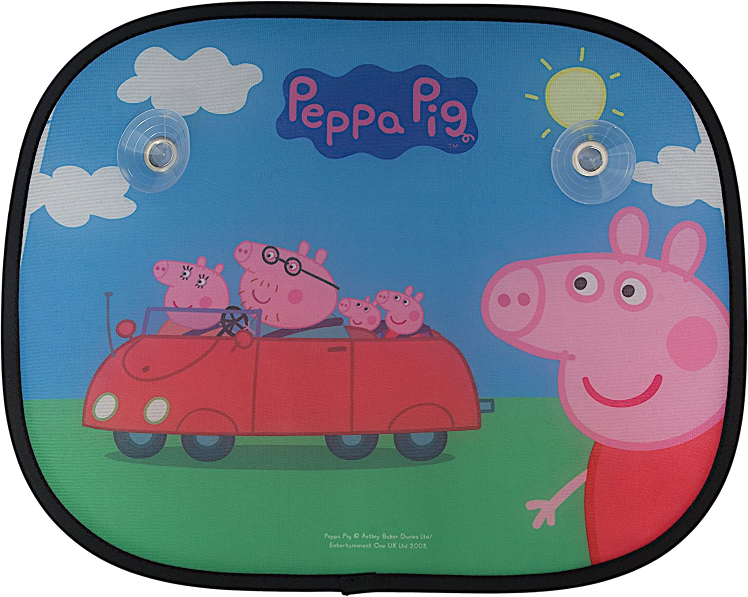 Set di due Per Bambini Peppa Pig Finestra Auto Sun Shades con Car Design