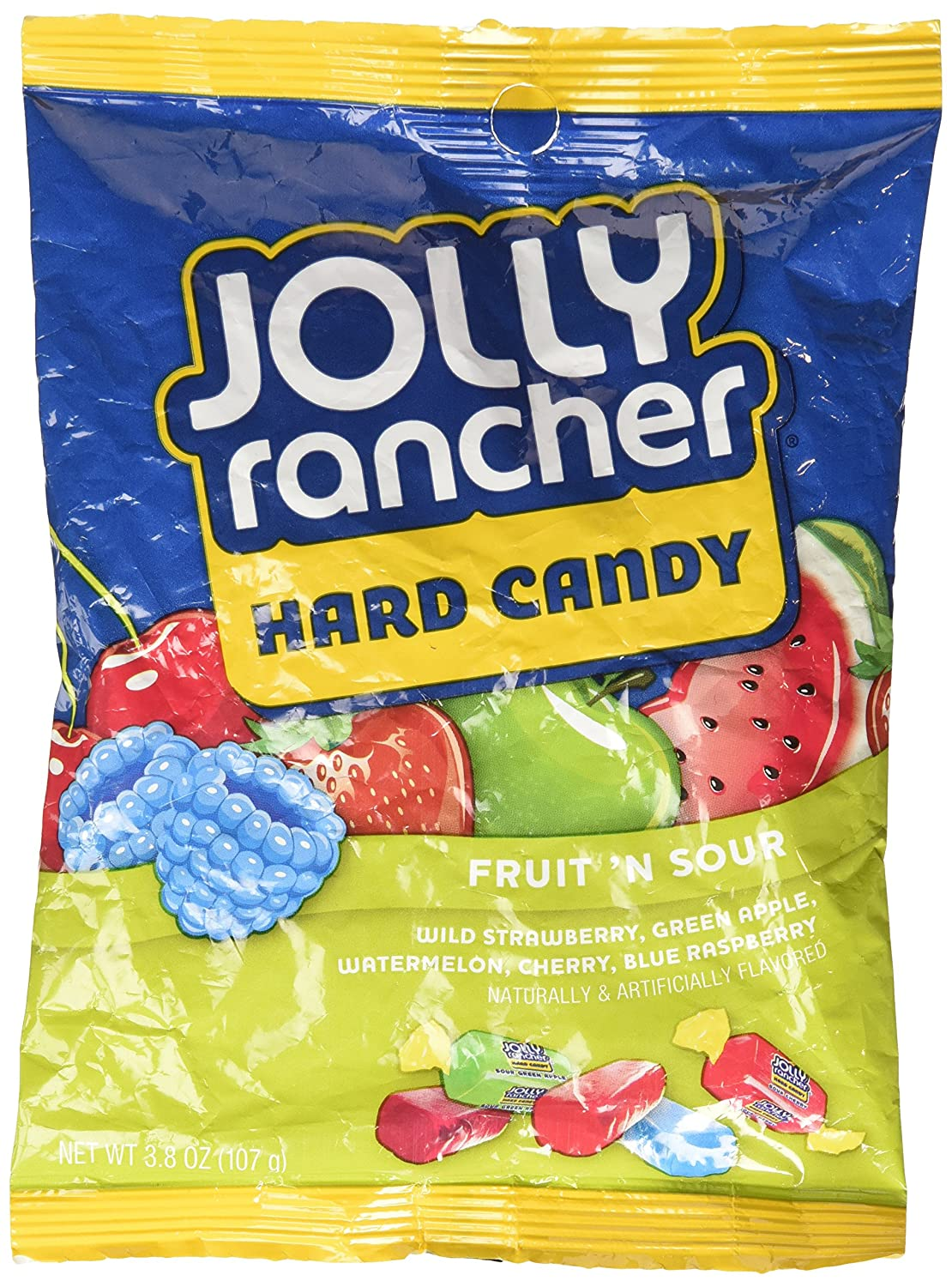 Jolly Rancher Fruit N' Sour Hard Candy in assorted fruit flavors (3.8-Ounce package)