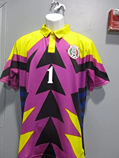 Soccer Jorge Campos Jersey Purple/Pink/Yellow seleccion Mexicana Mexico