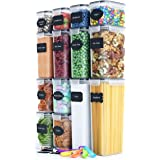Airtight Food Storage Containers Set [14 Piece] - Kitchen Pantry Organization and Storage, BPA-Free, Plastic Canisters with D