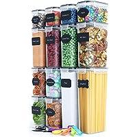 Chef's Paths Lufttäta Förvaringsburkar för ditt Kök – 14 st - Komplett Förvarings Set för Kök och Skafferi – BPA-fri…