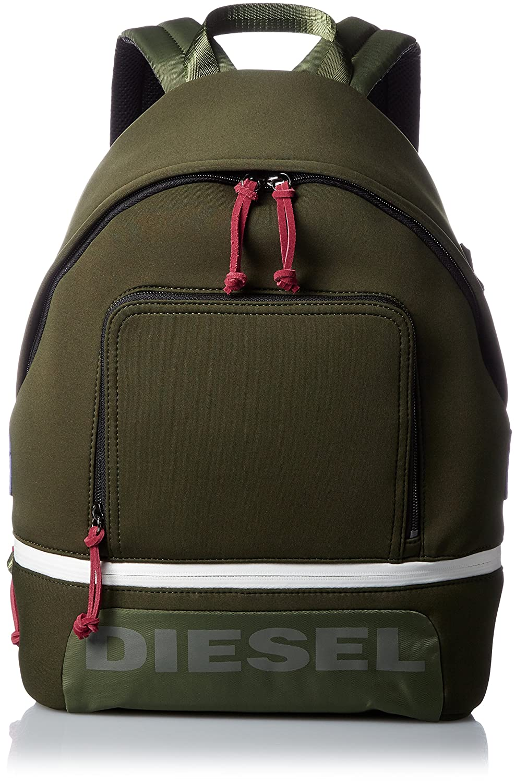 (ディーゼル) DIESELメンズ ボンディング素材 バックパック SCUBA-B F-SCUBA BACK backpack B07254KLKTカーキ UNI(FREE サイズ)