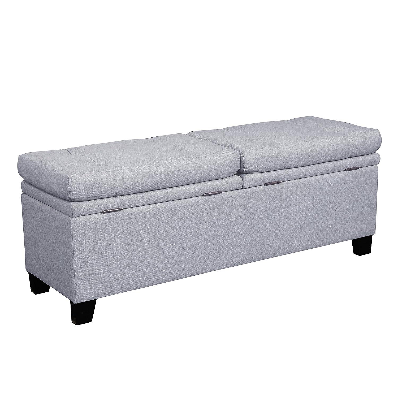 Amazon.com: Pulaski Curtis Storage Upholstered Bed Bench, Trespass Marmor:  Kitchen U0026 Dining