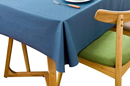Lavin Tablecloth PVC Wipe Clean Table Cloth Waterproof Oil Cloth Heavy Duty  Vinyl Table Cover Rectangle
