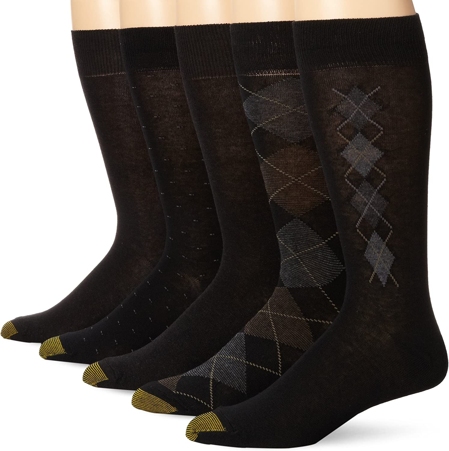Gold Toe Men's Argyle Assorted Crew 5 Pack